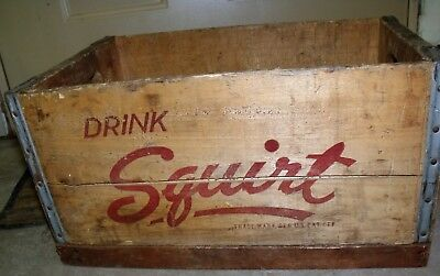 Vintage Wood Squirt Crate With Hand Grips