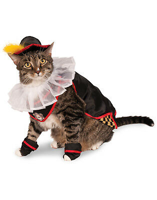 Puss In Boots Pet Cat Fairytale Hero Halloween Costume-One Size