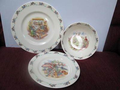 Royal Doulton Bunnykins Bowl Sandwich Plate Lucheon Plate Nice Gently Used