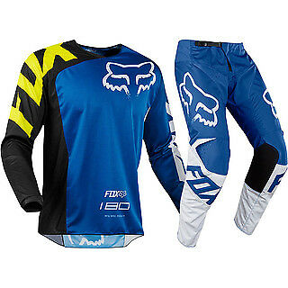 Fox 180  Mx 2018 Race Blue Gear Set Race Enduro (34 & Large)