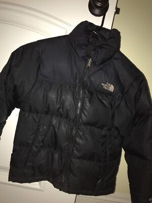 North Face Kids Boys Down Puffer Nuptse Jacket Coat Small/Petite