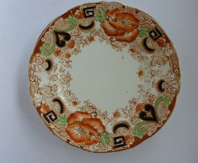 TF & S Ltd. England Porcelain Ceramic Plate Asian Oriental Design