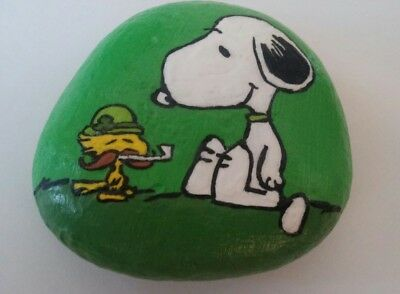 Snoopy&Woodstock ST PATRICKS DAY Peanuts Hand Painted Rock