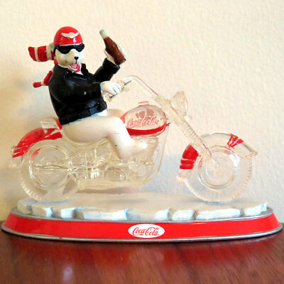 Coca - Cola Cruisers Collection -ONE COOL RIDE- FIGURINE Harley Davidson -broken