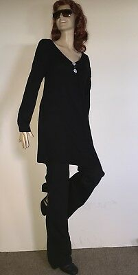 New 2PIECE Black LoungeWear Stretchy S Lightweigh Maternity Top Drawstring pants