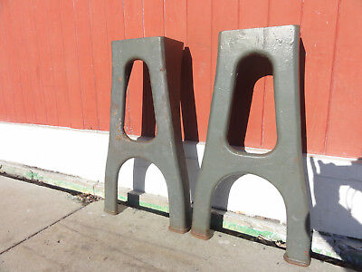 Pair Of Vintage  Cast Iron Legs Industrial Steampunk Table Legs