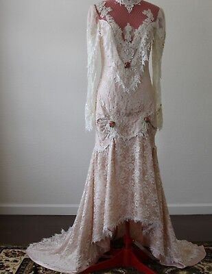 French Lace Company Vintage Wedding Dress /size 6