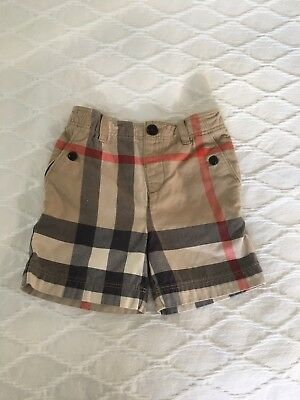 Burberry Baby Boy Check Shorts 12 Months