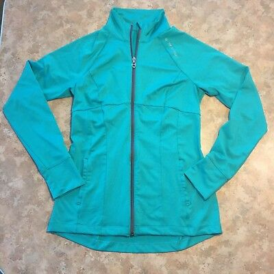 UNDER ARMOUR Womens M Turquoise Full Zip Mockneck Knit Top/Base Layer PERFECT