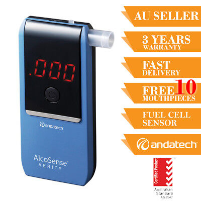 Breathalyser Alcohol Tester Breath Test Andatech Alcosense Verity Personal Fuel