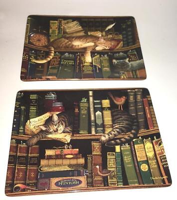 Classic Tails Library Cats Charles Wysocki Max In Stacks  Plate Platter Bradford