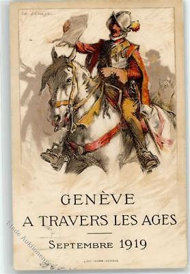 52412926 - Genève Genf signiert Reiter Travers les Ages 1919