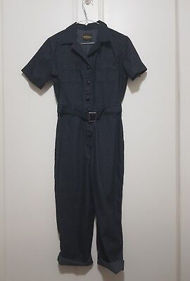 Freddies of pinewood chain gang jumpsuit size 8 rockabilly pinup