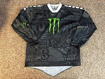 Monster Energy Supercross Motorcross Men's Xxl Carbon Jersey