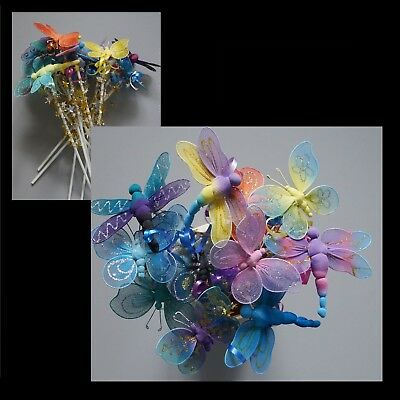 Butterfly & Dragonfly Fairy Wand x 12 BULK wands Party Favour Gift Resell #L