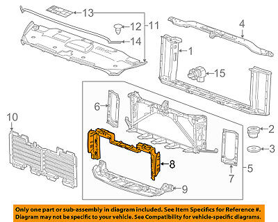 Admirable Gmc Gm Oem 15 16 Yukon Radiator Core Support Mount Panel 23266741 Wiring 101 Archstreekradiomeanderfmnl