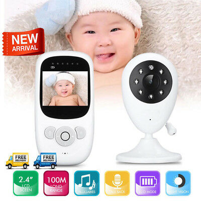 "2.4"" Audio Video Wireless Baby Monitor Digital Camera Night Vision Safety Viewer"