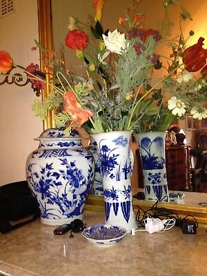 Wonderfull Chinese porcelain Blue & White Flaring Vase, Gu, 17th C, Chongzhen