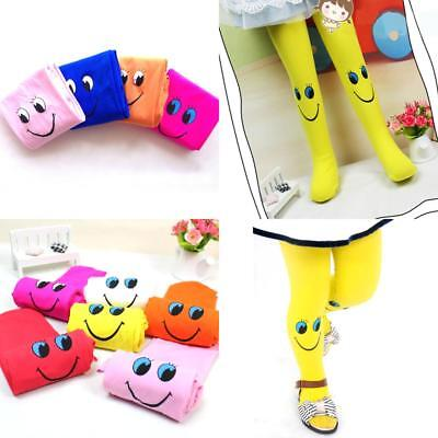 High Quality Velvet Smiley Tights 3-8 Years Girls Autumn and Winter Pattern Kids