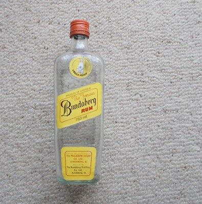 RARE 60's - 70's ?? -   Bundaberg Rum Empty Bottle ,     it is a 750 ml