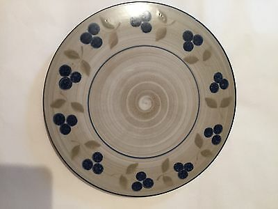Jersey pottery floral ceramic cake stand