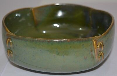 Serving Bowl Ceramic/Stoneware in GREENISH COLOR (7 inches) (1 pc) Handmade