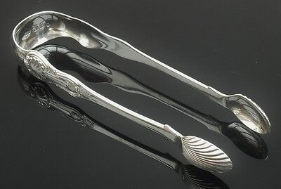 Scottish Provincial Silver Sugar Tongs, Robert Keay of PERTH, 1845