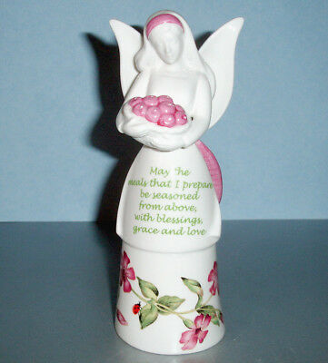 Lenox Butterfly Meadow Bless My Meals Kitchen Angel Bell Figurine Pink New