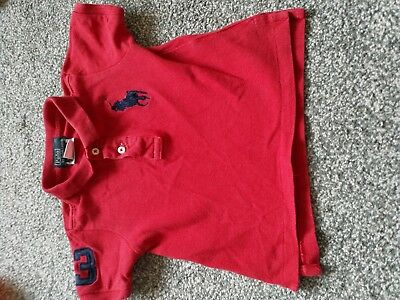 baby boys t shirts 12-18 months polo Ralph Lauren red