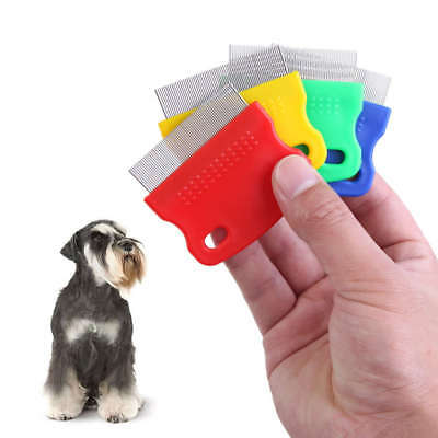 Compact Ultra-Fine Flea Dog Cat Comb Metal Teeth Healthy Fur Hair Coat Clean