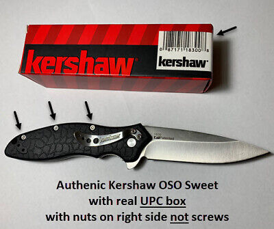 Kershaw Knives OSO Sweet Folding Pocket Knife Non-Serrated Plain Blade - 1830
