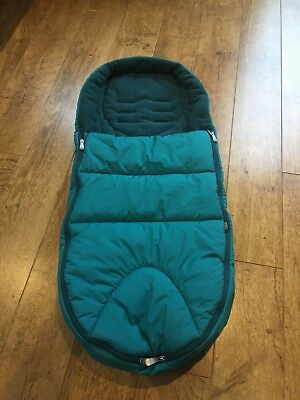 Turquoise Blue Green Mamas & Papas Footmuff Perfect Condition