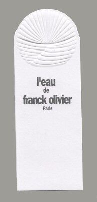Carte publicitaire - advertising card  - L'Eau de Franck Olivier