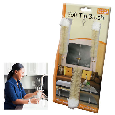 Baby Bottle Brushes Soft Tip Hard Nylon Bristle Long Brush Cleaning Sponge Glass