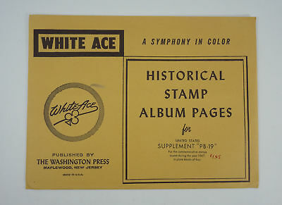 New White Ace Stamp Album Pages 1967 Unites States Plate Blocks Supplement PB-19