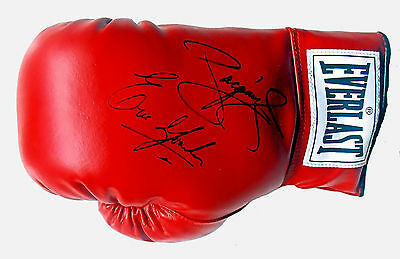 MANNY PACQUIAO & ERIC MORALES / Dual Signed Everlast Boxing Glove