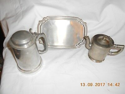 Lot Vintage Mixed Metal Serving Pieces