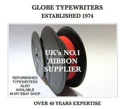 1 x 'OLYMPIA SF' *BLACK/RED* TOP QUALITY *10 METRE* TYPEWRITER RIBBON