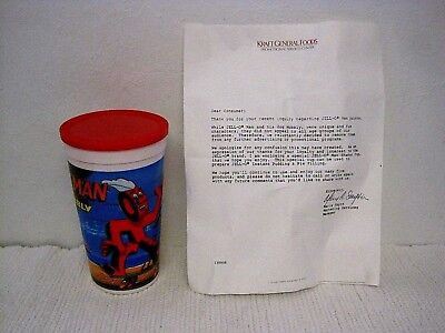 NOS Jell-O Man and Wobbly Man Shaker Cup w/LOE Discontinued Promo Product