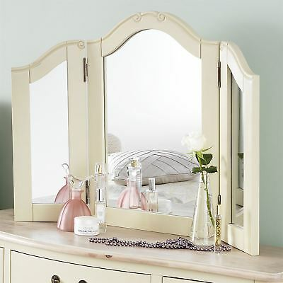 Juliette Champagne 3-way  dressing table Mirror. Large angle adjustable mirror
