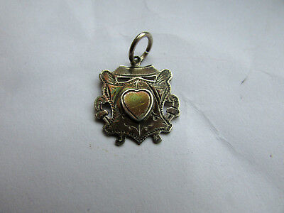 Old silver pocket watch fob