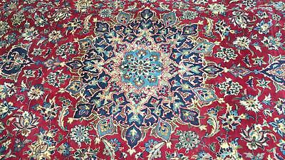 A REMARKABLE OLD HANDMADE NAJAF ABAD PERSIAN XL CARPET (416 x 280 cm)
