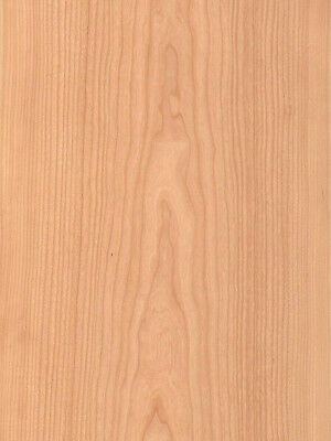 "Cherry Wood Veneer Plain Sliced Paper Backer Backing 2' X 8' (24"" x 96"") Sheet"