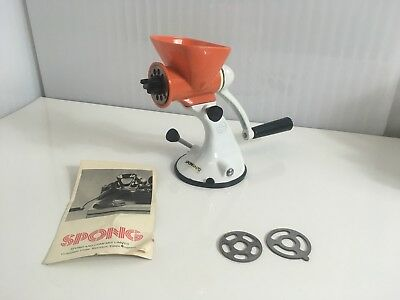 ⭐ Vintage & Retro⭐ N705 SPONG MEAT MINCER with suction base