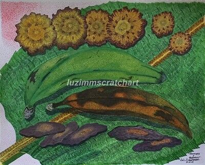 "$40.00 OFF - Nature ""Tostones y Maduros Fritos"" ORIG Pointillism 11x14 by LVZ"
