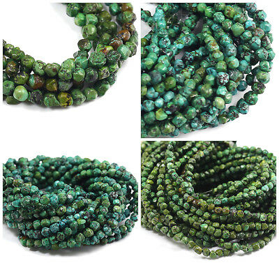 """High Quality Natural Gemstone Genuine Turquoise Small Nugget Beads 15"""" Free Ship"""