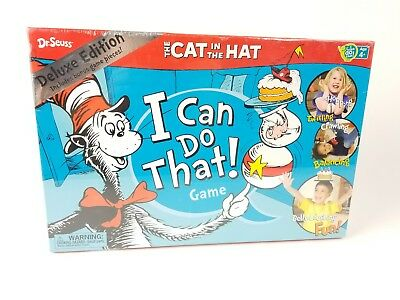 NIB Dr. Seuss Cat In The Hat I Can Do That! Family Fun Kids Game