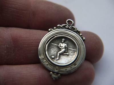 Antique Solid Sterling Silver Hm 1935 Fob Football Medallion 4.2Grms