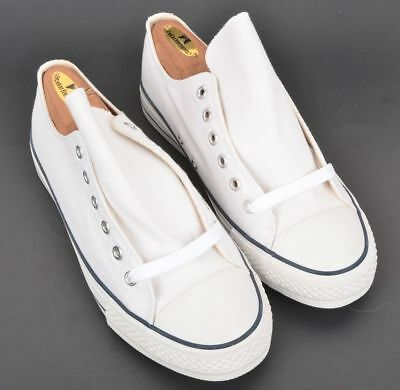 e836c76f11e NEW NIB - BROOKS BROTHERS White Solid Canvas Mens Shoes Sneakers - 7.5 D