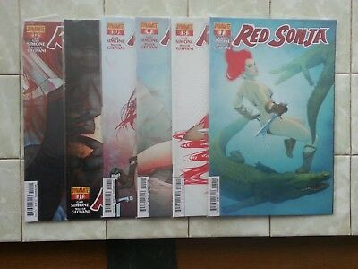 Red Sonja #'s 7 - 12 / Gail Simone / The Art of Blood and Fire